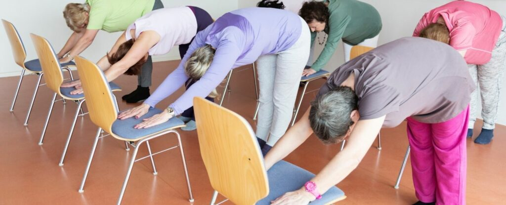 chair yoga is one of the great indoor exercises for winter