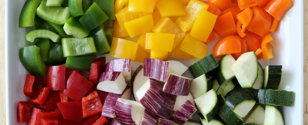 colorful vegetable are part of a healthy diet for 50 year old