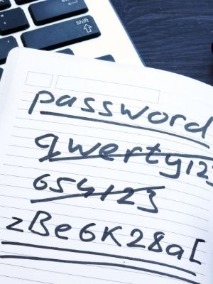 store your primary password on a piece of paper and keep it in a safe place