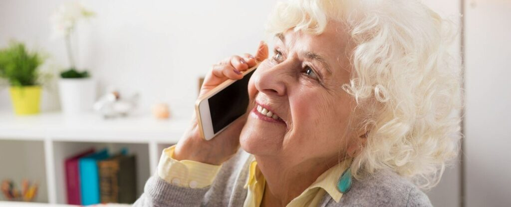 combat social isolation by calling friends and family