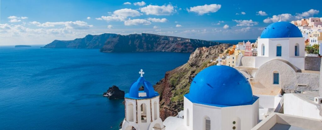 santorini isn't just beautiful, its one of the best vacation ideas for retired people